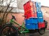 Truck und Bio-Gemüse in Gent, Belgien
