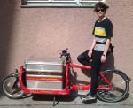 Daria ist seit April 2014, als fest angestellte Lastenradbotin, für Heavy Pedals unterwegs.