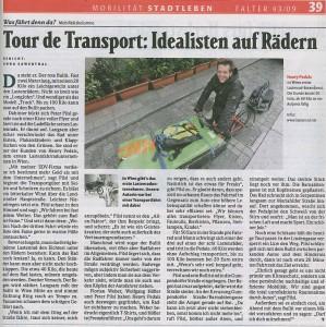 Falter 43/09: Tour de Transport: Idealisten auf Rädern