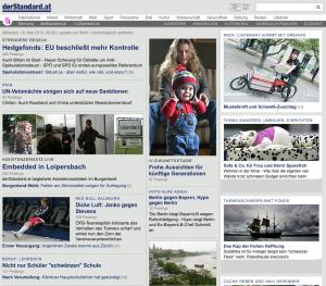 19.05.2010: derStandard.at - Wien: Lieferant kommt mit Dreirad