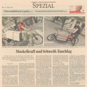 19.05.2010: derStandard - Wien: Lieferant kommt mit Dreirad