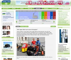 """23.11.2010 – magazin.global2000.at: """"Wir legen Wert auf unere Prinzipien"""""""