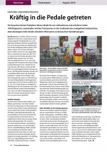 PDF Download: August 2010 - Straßengüterverkehr: Kräftig in die Pedale getreten