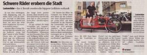 15.07.2011 - Kurier: Schwere Räder erobern die Stadt