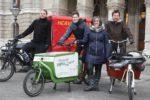 Vzbgm. Maria Vassilakou präsentiert Förderung für Lastenräder,copyright: PID / Christian Fürthner