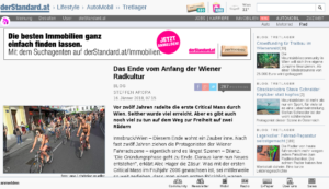 16.01.2018 – derStandard.at: Das Ende vom Anfang der Wiener Radkultur