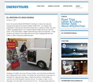 31.01.2019 – energytours.eu: EL-MOTION+FC 2019 Vienna