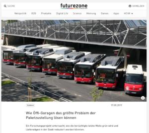 19.08.2019 – futurzone.at: Wie Öffi-Garagen das größte Problem der Paketzustellung lösen können