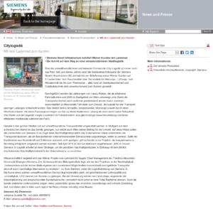 18.09.2019 – Siemens Österreich: Mit dem Lastenrad zum Kunden