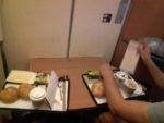Frühstück im Nachtzug von Wien nach Berlin