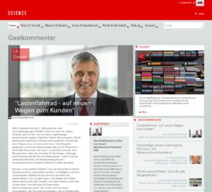 """31.10.2019 – science.apa.at: """"Lastenfahrrad - auf neuen Wegen zum Kunden"""""""