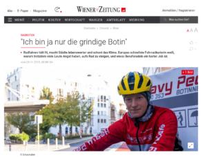 """24.11.2019 - Wiener Zeitung: """"Ich bin ja nur die grindige Botin"""""""