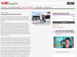 November 2019 – vor Magazin: Citylogistik-Projekt RemiHub