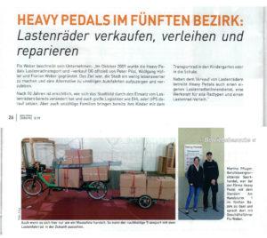 2019 – Mode & Freizeit Intern 3/19: Heavy Pedals im fünften Bezirk: Lastenräder verkaufen, verleihen und reparieren