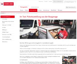 30.04.2020 - wienerlinien.at: Im Test: Paketzustellung aus der Busgarage