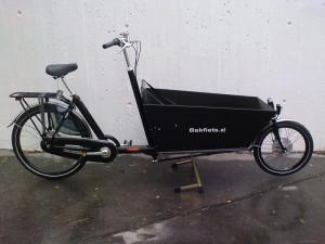 Bakfiets Lastenrad Lang, 8-Gang, Schwarz, Schwarze Kiste, fabrikneu