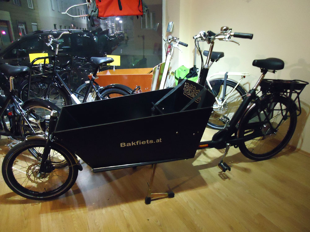 bakfiets lastenrad lang 7 gang e motor matt schwarz. Black Bedroom Furniture Sets. Home Design Ideas