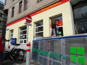 Fahrradfensterputzer