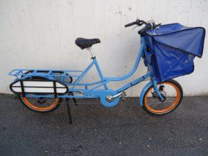 Bicicapace JustLong, 8-Gang, Blau, Blaue PVC Tasche, fabrikneu