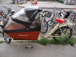 Bakfiets Lastenrad Lang Classic, 7-Gang, Creme, Vorführrad
