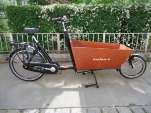 Bakfiets Lastenrad Classic Lang, 7-Gang, Matt Schwarz, fabrikneu