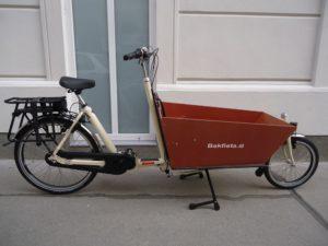 Bakfiets Lastenrad Lang Classic Steps, 7-Gang, E-Motor, Creme, fabrikneu