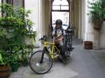 am Heimweg von der Arbeit noch spontan Kind, Kinderrad und einen Computer aufgeladen