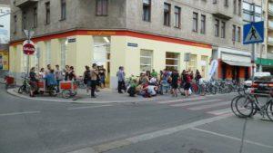 Geschäftslokal Eröffnung am Hundsturm, 26.06.2015