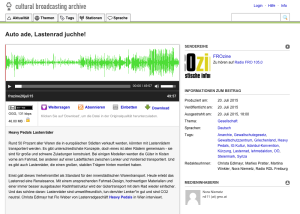 20.07.2015 – Radio FRO: Auto ade, Lastenrad juchhe!