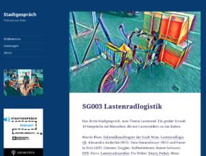 06.05.2017 - Stadtgespräch: Podcast aus Wien: SG003 Lastenradlogistik