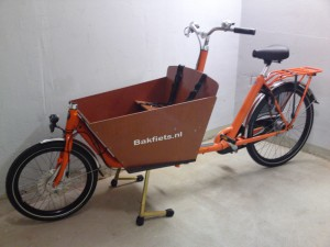 Bakfiets kurz Orange