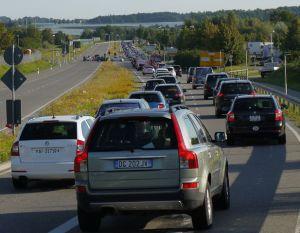 Eurobike Stau - Quelle: http://www.ride.ch/site/index.php/7233-eurobike-2012-legt-nochmals-leicht-zu.html