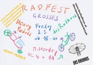 Heavy Pedals lädt ein zum Radfest am Mittersteig am Freitag - 2.3.2012