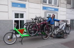 MCS Truck mit einer Lieferung Fahrräder