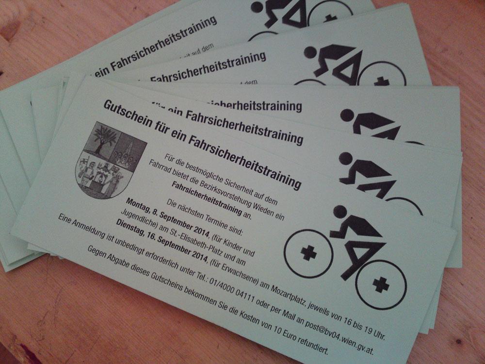 Fahrsicherheitstraining für RadfahrerInnen